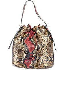 Ermanno Scervino - Snake print leather bucket bag