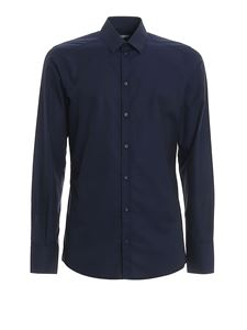 Dolce & Gabbana - Cotton jacquard shirt in blue
