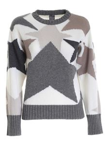 Lorena Antoniazzi - Star inlay pullover in grey