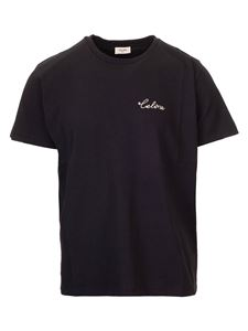 Celine - Black T-shirt with Celine embroidery