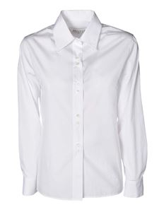 Maison Margiela - Shirt with buttoned cuffs in white