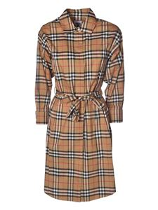 Burberry - Vintage check chemisier in camel color