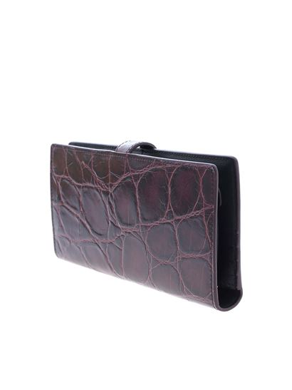 Tod's - Glossy effect leather wallet in purple