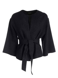 Seventy - Jacket with sequins in black