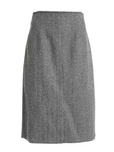 Seventy - Herringbone skirt in black and grey
