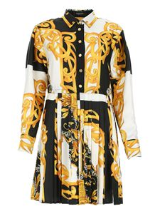 Versace - Barocco Acanthus printed shirt dress in black