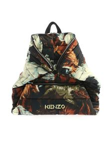 Kenzo - KENZO Horses print backpack in shades of beige
