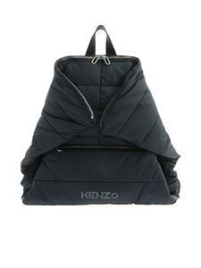 Kenzo - Logo print backpack in blue