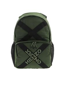 Kenzo - Branded bands backpack in green