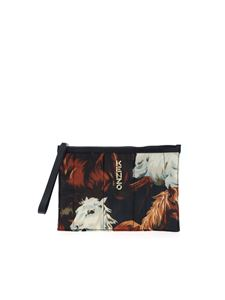 Kenzo - KENZO Horses print clutch bag in shades of beige