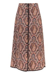 Celine - Long Boutis printed skirt