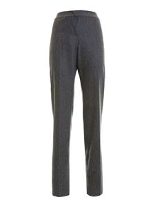 Armani Collezioni - Wool formal manly trousers in grey