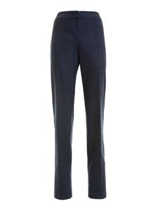 Armani Collezioni - Wool and cashmere manly trousers in blue