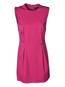 Versace - Short dress with buttons in fuchsia