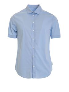 Armani Collezioni - Short sleeved shirt in light blue