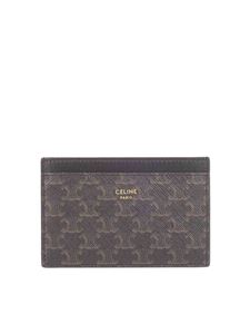 Celine - Triomphe card holder in black