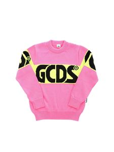 GCDS - Maxi logo embroidery pullover in neon pink