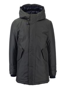 Fay - Padded parka with hood in green