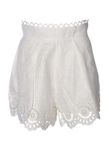 Zimmermann - Bellitude Scallop shorts in ivory color