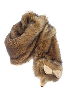 Moschino - Faux fur stole in shades of beige