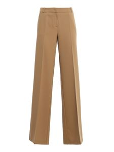 Drumohr - Twill flared pants in camel colour