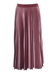 Valentino - Pleated velvet skirt in pink