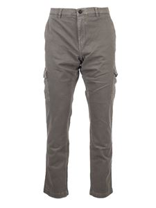 Fay - Cotton cargo pants in green