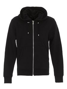 Balmain - Zipped cotton hoodie in black