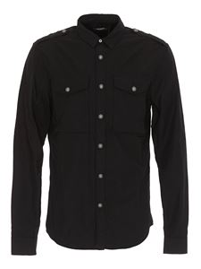 Balmain - Chest pocket buttoned shirt in black