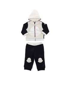 Moncler Jr - Teddy effect detail tracksuit in blue