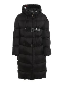 Ermanno Scervino - Padded hooded coat in black