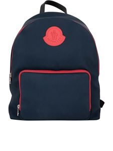 Moncler - Bicolour backpack in blue