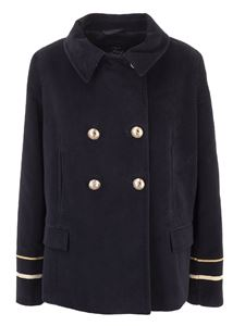 Fay - Short coat with golden embroidery cuffs