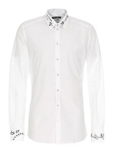 Dolce & Gabbana - DG print shirt in white