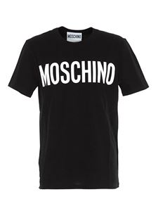 Moschino - Branded T-shirt in black