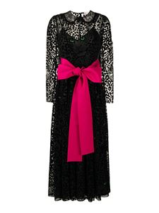 Red Valentino - Leo Panther maxi dress in black