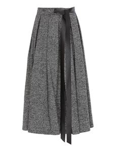 Department 5 - Wool blend pleated skirt in grey