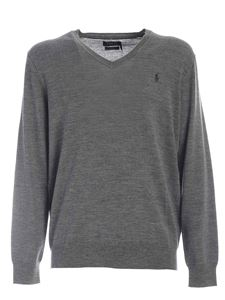 POLO Ralph Lauren - Logo embroidery pullover in melange grey