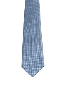 Brioni - Micro patterned blue silk tie