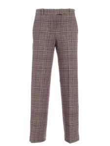 Circolo 1901 - Checked pattern palazzo pants in brown