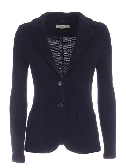 Circolo 1901 - Knitted fabric single-breasted jacket in blue