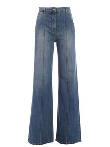 Blumarine - Palazzo jeans in faded blue