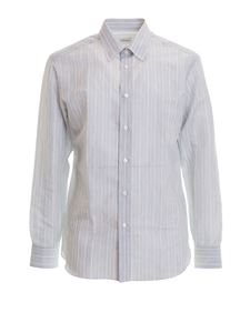 Brioni - Striped linen and cotton shirt in grey