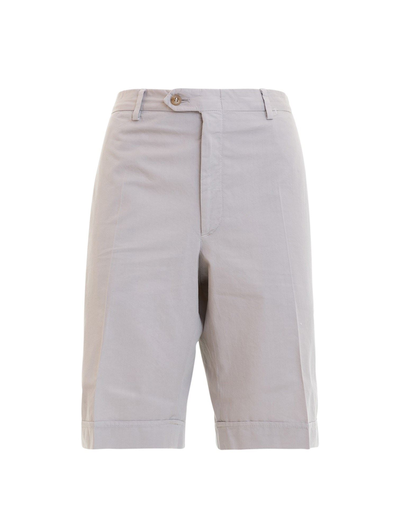Brioni Beige Cotton Short Chino Trousers In Brown