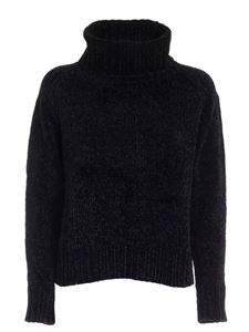 Seventy - Chenille turtleneck in black