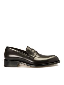 Brioni - Polished leather loafers in black