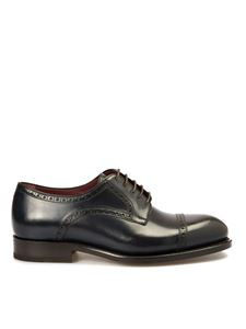 Brioni - Milano Derby leather shoes in blue