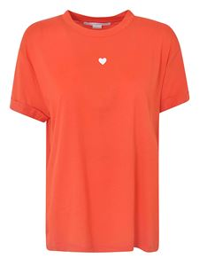 Stella McCartney - Mini Heart T-shirt in poppy red color