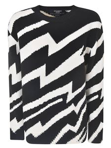 Stella McCartney - Lightning pattern pullover in white and black