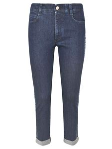 Stella McCartney - Side band logo jeans in blue
